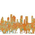Houston, Texas Skyline - Rost von Marlene Watson