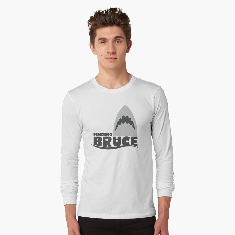 Finding Bruce (Finding Dory inspired horror) Long Sleeve T-Shirt