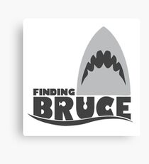 Finding Bruce (Finding Dory inspired horror) Canvas Print