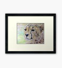 Wildlife - Cheetah, photorealistic drawing Framed Print