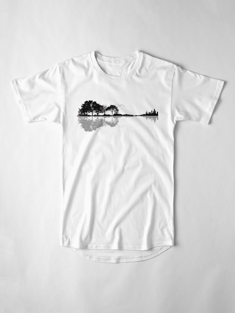 Vista alternativa de Camiseta larga Naturaleza Guitarra