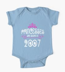 Princesses are born in 2007 Kids Crown Kids Clothes