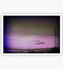 Purple sky.. Sticker