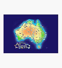 Australia map scarf Photographic Print