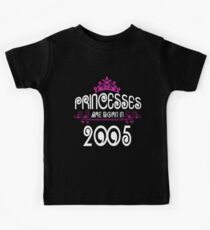 Princesses are born in 2005 Kids Crown Kids Clothes
