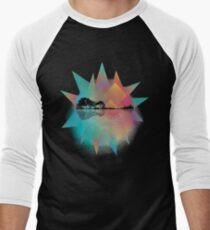 Colorful Geometric Nature Guitar Men's Baseball ¾ T-Shirt