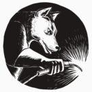 Dingo Dog Welder Scratchboard by patrimonio