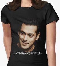 Salman Khan Face Women's Fitted T-Shirt