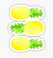 Pineapples - Dark Green Sticker