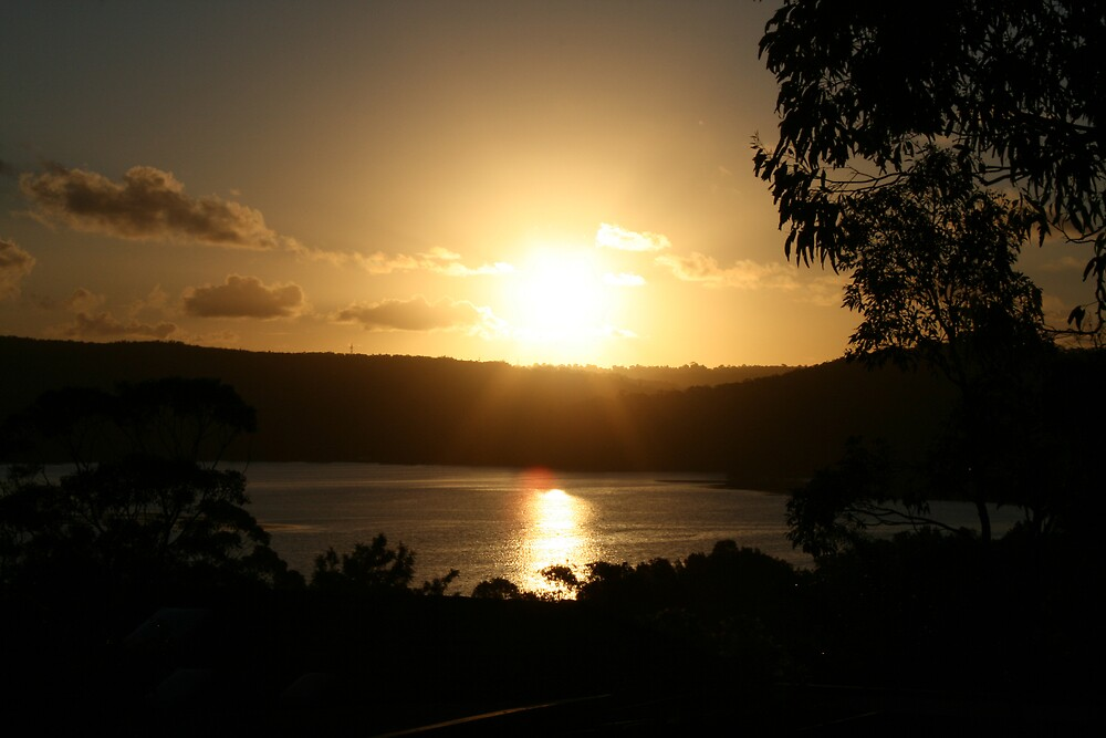 Sunset over Narrabeen Lakes, Narrabeen  by Spirit Level Creations