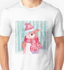 Winter Woodland Friends Bear Forest Animals Illustration T-Shirt