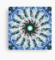 Spiraling Garden Blossoms Canvas Print