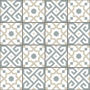 Geometric Pattern: Tiles: Grey by redwolfoz