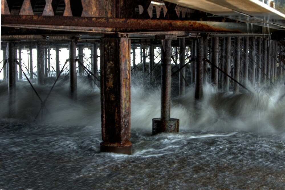 Tide Against the Pier (3 of 3) by Kevin Baker