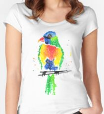 Rainbow Lorikeet Women's Fitted Scoop T-Shirt
