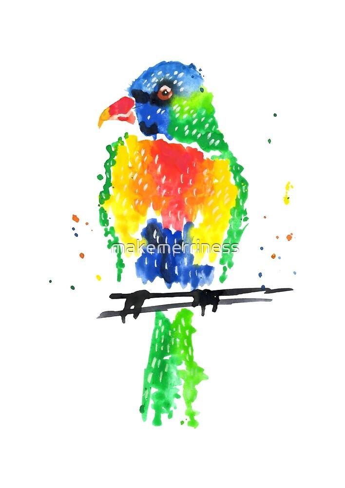 Rainbow Lorikeet by makemerriness