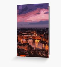 Florence, beauty of Italy Greeting Card