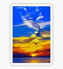 Florida, magical sunset Sticker