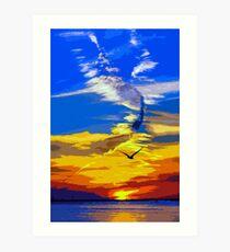Florida, magical sunset Art Print