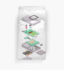 Lowpoly Vector Gameboy DMG Isometric Explosion View  Duvet Cover