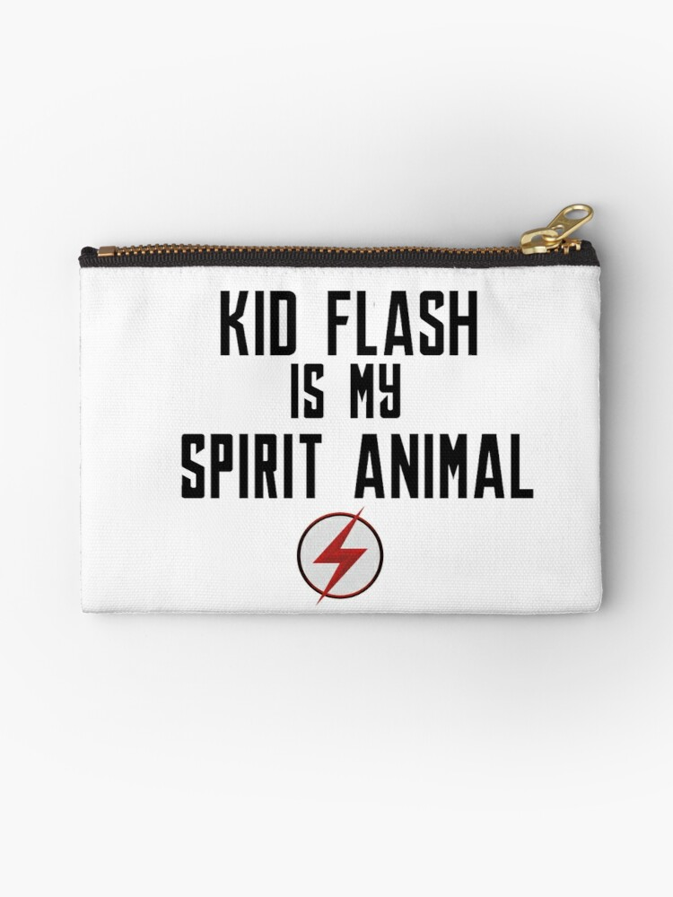 Kid Flash Is My Spirit Animal Studio Pouches By Idebnams Redbubble