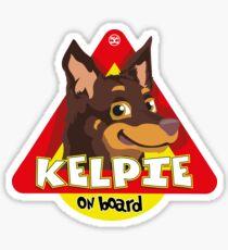 Kelpie On Board - Brown and Tan Sticker