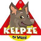 Kelpie On Board - Fawn by DoggyGraphics