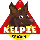 Kelpie On Board - Brown by DoggyGraphics