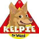 Kelpie On Board - Cream by DoggyGraphics