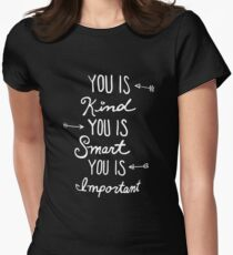 Cute/Cool Anniversary/Valentines Day Gifts - You Is Important - Best Gift for Him, Her, Men, Women, Boyfriend, Girlfriend, Best Friend, Husband, Wife, Son, Daughter, Dad, Mom, Couples, Brother, Sister Women's Fitted T-Shirt