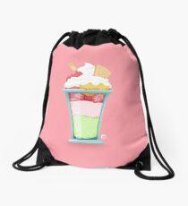 Strawberry Triple Ice Cream Dessert Drawstring Bag