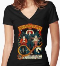 Sanderson Sisters Women's Fitted V-Neck T-Shirt