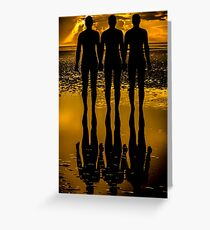 Three Iron Men Greeting Card