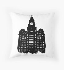 Royal Liver Building Throw Pillow