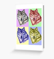 Wolf PopArt Greeting Card