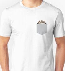 Basset Hounds In A Pocket Unisex T-Shirt