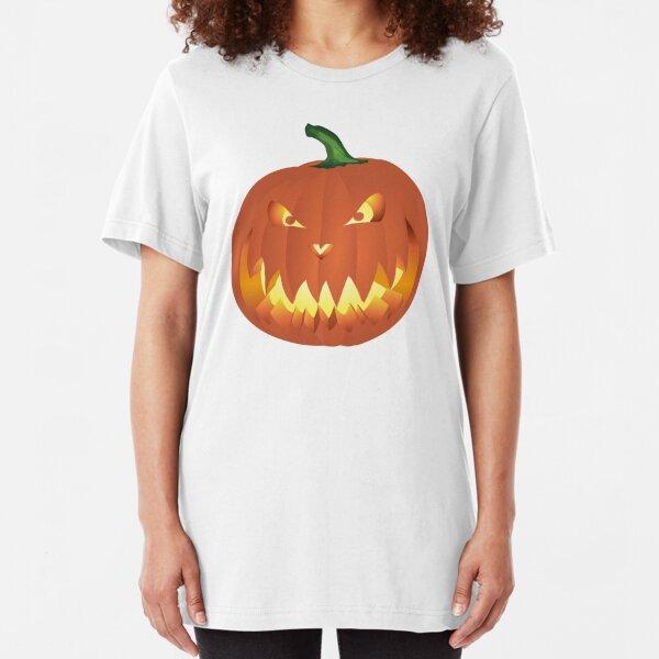 Halloweenkürbis... Slim Fit T-Shirt