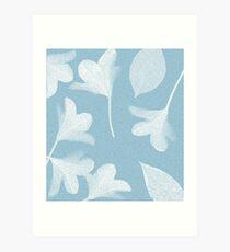 Himmelblaue Frühlingsblumen Kunstdruck