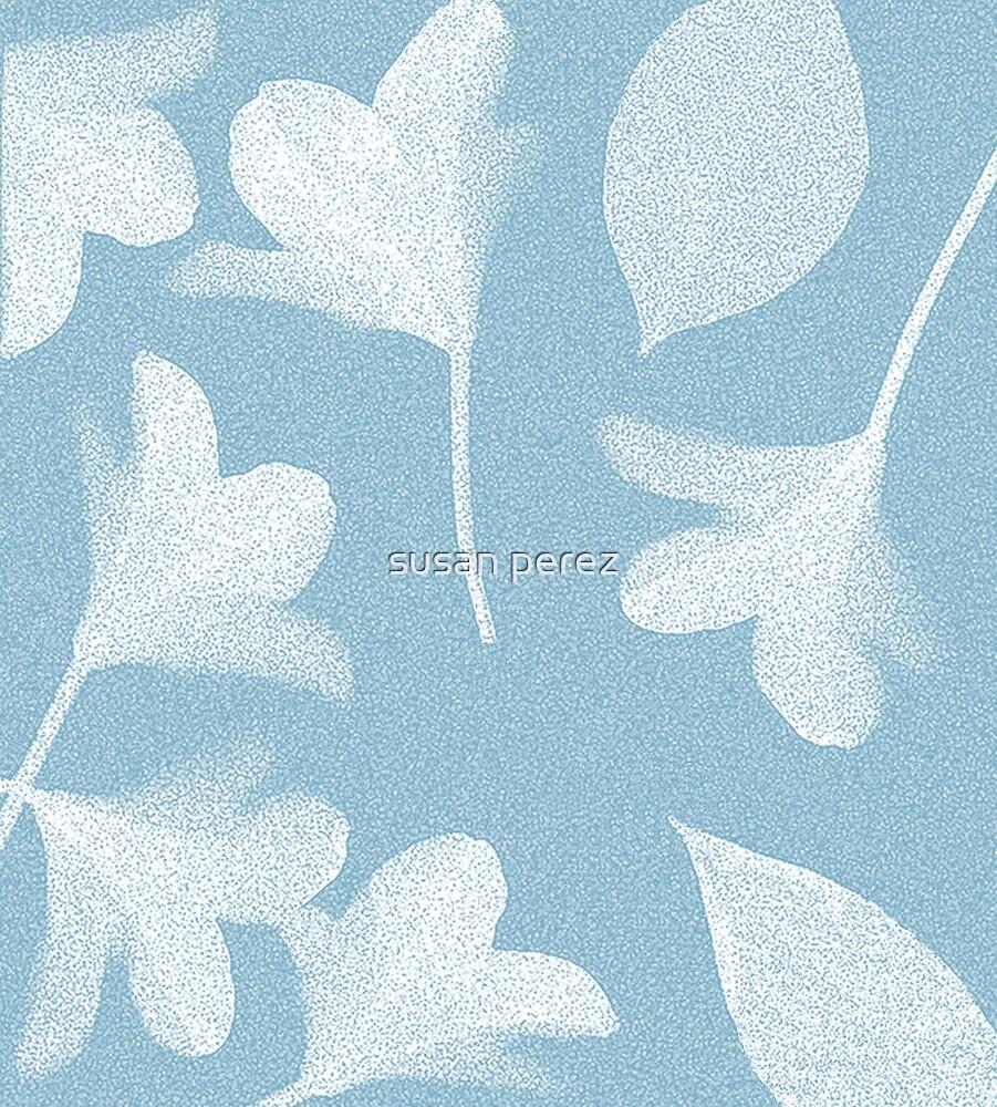 Himmelblaue Frühlingsblumen von susanPerez