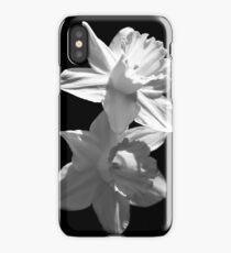 Daffodils in Black and White iPhone Case/Skin