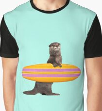 SURFING OTTER Graphic T-Shirt