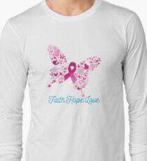 Breast Cancer Awareness - Faith Hope Love Long Sleeve T-Shirt