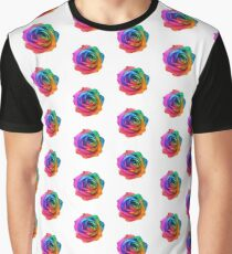 Rainbow Rose 01 Graphic T-Shirt
