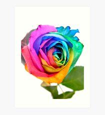 Rainbow Rose 01 Art Print