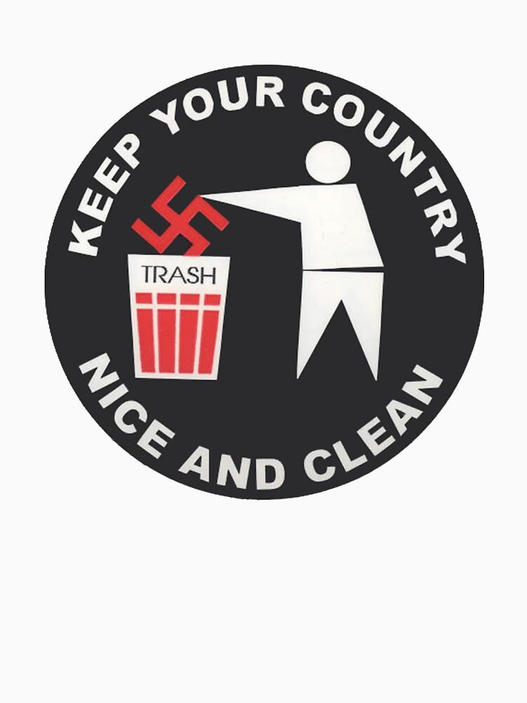 Mantenga su país limpio - Antinazi de dru1138