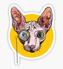 Sphinx Cat with Monocle Sticker