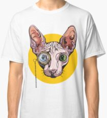 Sphinx Cat with Monocle Classic T-Shirt