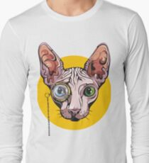 Sphinx Cat with Monocle Long Sleeve T-Shirt