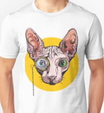 Sphinx Cat with Monocle Unisex T-Shirt