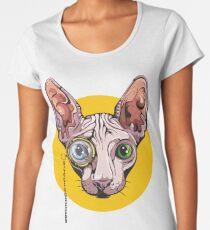 Sphinx Cat with Monocle Women's Premium T-Shirt
